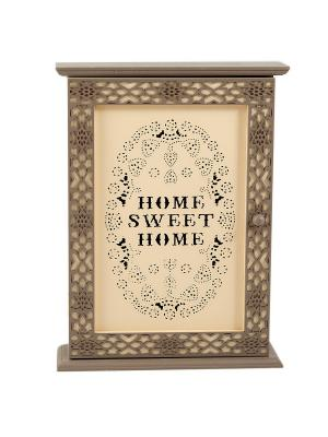 Ключница Sweet Home Русские подарки. Цвет: серо-коричневый, кремовый