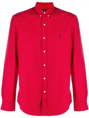 Рубашка с длинными рукавами Polo Ralph Lauren. Цвет: красный