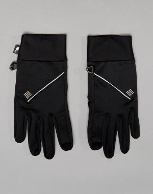 Черные беговые перчатки для сенсорных гаджетов Trail Summit Columbia. Цвет: черный