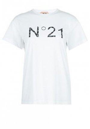 Футболка No21. Цвет: белый