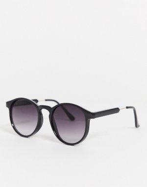 Круглые солнцезащитные очки -Черный AJ Morgan