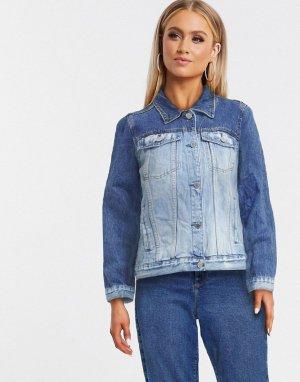 Двухцветная синяя джинсовая куртка Blank NYC-Синий NYC