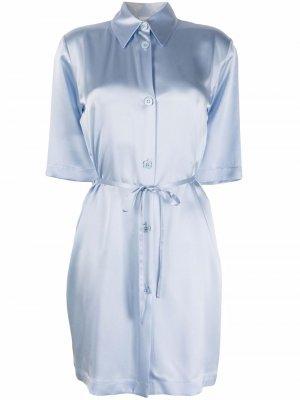 Ночная сорочка с завязками на талии La Perla. Цвет: синий