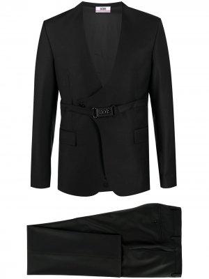 Костюм-двойка с двубортным пиджаком Gcds. Цвет: черный