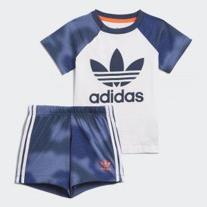 Комплект: футболка и шорты Camo Print Originals adidas. Цвет: красный