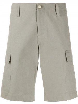 Бермуды с карманами карго из коллаборации Carhartt A.P.C.. Цвет: серый