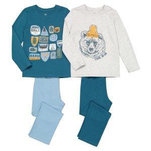 Комплект из 2 пижам с LaRedoute. Цвет: синий