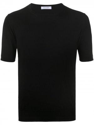 Трикотажная футболка Cruciani. Цвет: черный