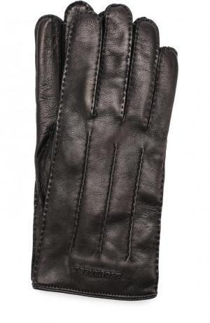 Кожаные перчатки с кашемировой подкладкой Dsquared2. Цвет: черный