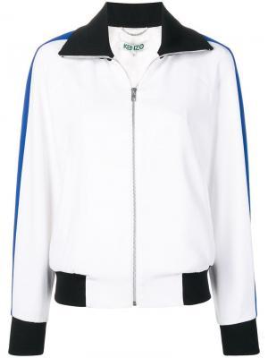 Куртка-бомбер с вышитым тигром Kenzo. Цвет: белый