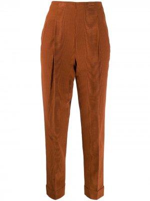 Укороченные брюки 1997-го года с завышенной талией Romeo Gigli Pre-Owned. Цвет: оранжевый