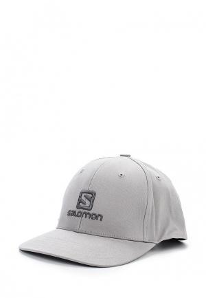 Бейсболка Salomon CAP LOGO. Цвет: серый