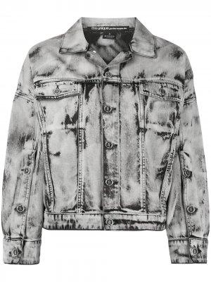 Куртка оверсайз с эффектом потертости Pinko. Цвет: серый
