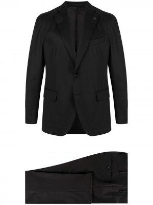 Костюм-двойка с однобортным пиджаком Gabriele Pasini. Цвет: черный