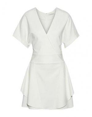 Короткое платье HALSTON. Цвет: белый