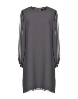 Короткое платье STEFFEN SCHRAUT. Цвет: свинцово-серый