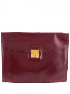 Объемный портфель 1987-го года Hermès. Цвет: красный