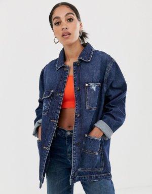 Джинсовая куртка из переработанных материалов -Синий Tommy Jeans