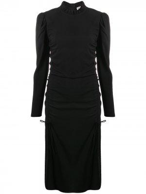 Платье миди с кулиской By Malene Birger. Цвет: черный