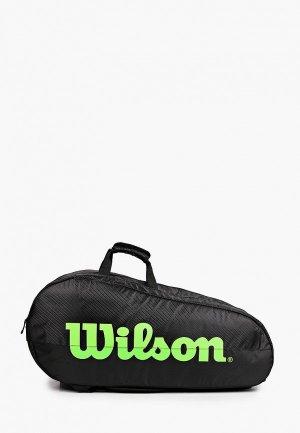 Сумка для теннисных ракеток Wilson TEAM 3 COMP, до 15. Цвет: черный