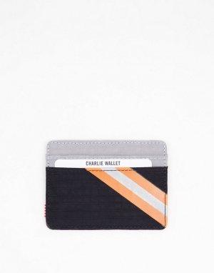 Кошелек для пластиковых карт темно-синего и серого цветов с оранжевой полоской Charlie-Темно-синий Herschel Supply Co