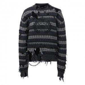 Шерстяной свитер Balenciaga. Цвет: серый