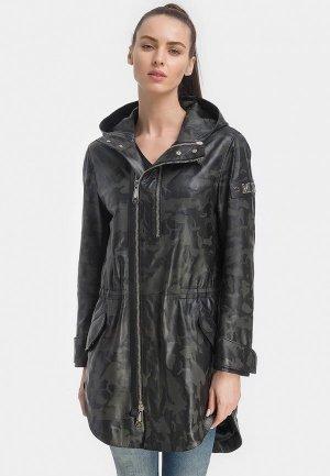 Куртка кожаная Millennials. Цвет: черный