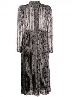 Платье-рубашка с геометричным принтом Ba&Sh