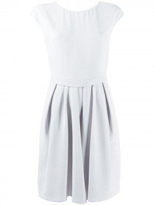 Платье мини с короткими рукавами Emporio Armani. Цвет: серый