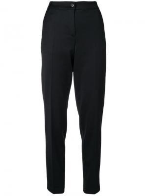 Классические брюки кроя слим Emporio Armani. Цвет: черный