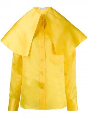 Рубашка на пуговицах с большим воротником Nina Ricci. Цвет: желтый