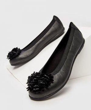 Балетки для девочек O`Stin. Цвет: черный
