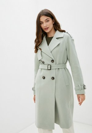 Пальто Electrastyle. Цвет: зеленый