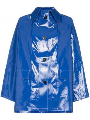 Лакированный дождевик Kassl. Цвет: синий