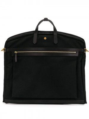 Парусиновый портфель MS Suit Mismo. Цвет: черный