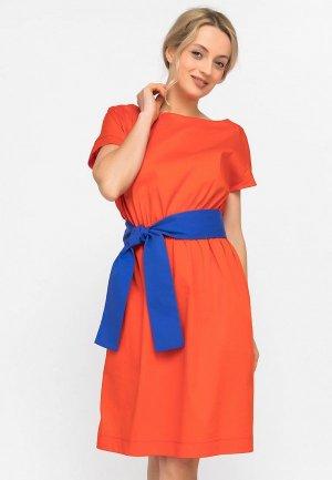 Платье Artwizard. Цвет: оранжевый