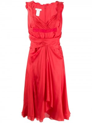 Платье с вырезом в форме сердца Céline Pre-Owned. Цвет: красный