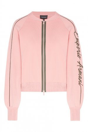 Розовая ветровка на молнии Emporio Armani. Цвет: розовый
