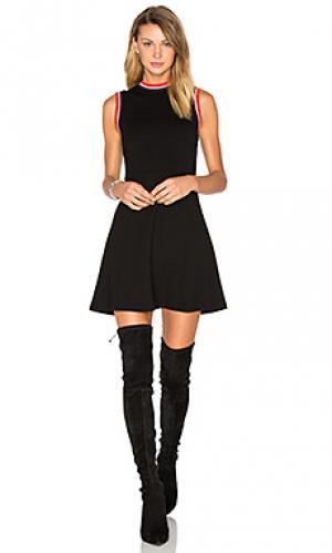 Трапециевидное платье с высоким воротом McQ Alexander McQueen. Цвет: черный