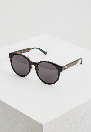 Очки солнцезащитные Gucci GG0416SK002. Цвет: черный