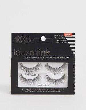 Набор из двух пар накладных ресниц Faux Mink Lashes 817-Черный цвет Ardell