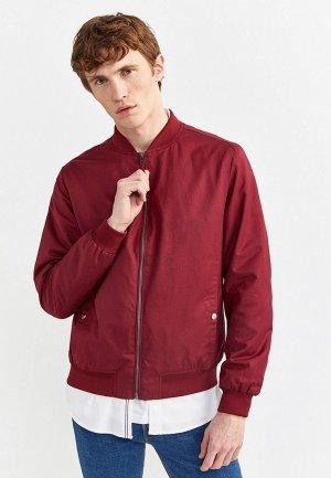Куртка Springfield. Цвет: бордовый