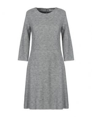 Платье до колена CAPPELLINI by PESERICO. Цвет: серый