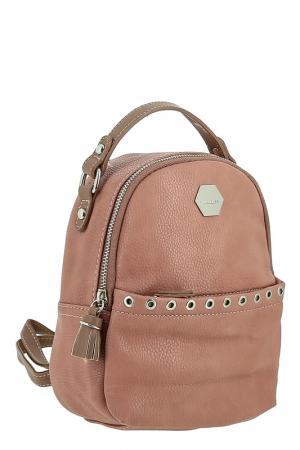 Сумка-рюкзак David Jones. Цвет: розовый