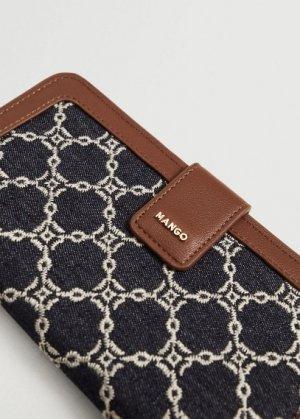 Бумажник с вышитыми цепочками - Joana Mango. Цвет: темно-синий