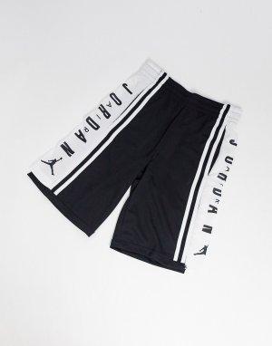 Черные баскетбольные шорты с логотипом Nike Air -Черный Jordan