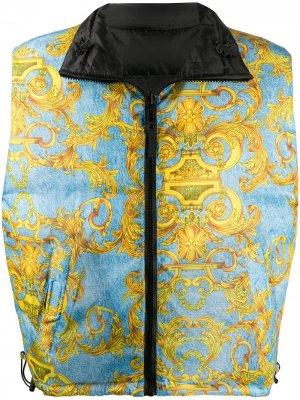 Двусторонний жилет Versace Jeans Couture. Цвет: синий