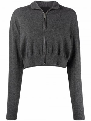 Knitted zip-front cropped cardigan Givenchy. Цвет: 56 grey