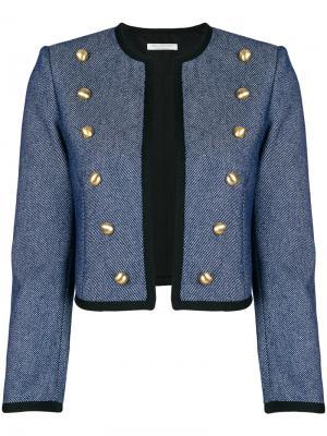Укороченная джинсовая куртка Philosophy Di Lorenzo Serafini. Цвет: синий