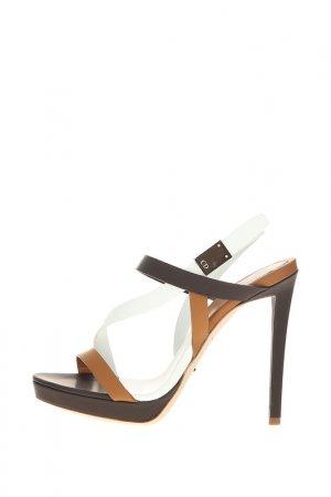 Босоножки Dior. Цвет: коричневый, белый